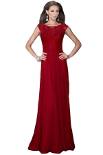 Red Sexy Hollow Out Ladies Lace Evening Dress