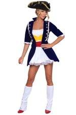 White Cosplay Sexy Ladies Halloween Pirate Costume