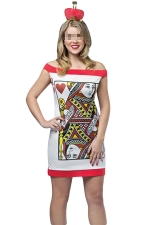 White Adult Queen of Hearts Fairytale Costume