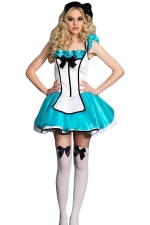 Blue Adult Alice Cosplay Fairytale Costume