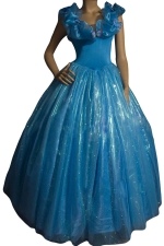 Blue Ladies Elegant Ciderella Fairytale Costume