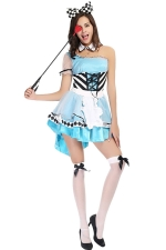 Ladies Lovely Alice Halloween Fairytale Costume Blue