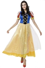 Womens Snow White Cute Halloween Costume Blue