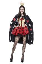 Womens Alice Queen of Heart Halloween Costume Red