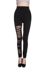 Womens Stylish Leopard Printed Sliming  Leggings Black