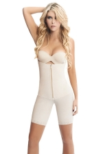 Womens Zipper Straps Butt Lifter Waist Training Corset Bodysuit White
