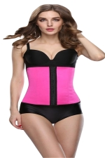 Womens 9 Steel Bone Glossy Waist Training Corset Rose Red