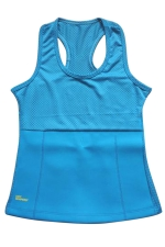Womens Slimming Neoprene H Back Tank Corset Blue