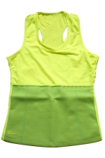 Womens Slimming Neoprene H Back Tank Corset Yellow