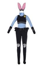 Womens Funny Zootopia Judy Hopps Halloween Costume Black