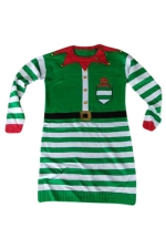 Womens Crewneck Striped Ugly Christmas Pullover Sweater Green