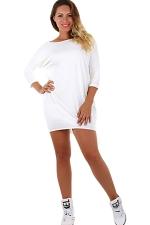 Womens Cross Cut Out Back Long Sleeve Plain Dress White