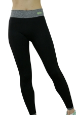 Womens High Waist Ankle Length Color Block Yoga Sports Leggings Black