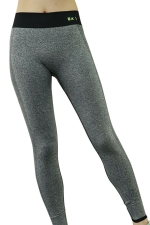 Womens High Waist Ankle Length Color Block Sports Leggings Light Gray