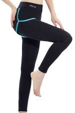 Womens False Two-piece High Waist Yoga Sports Leggings Green