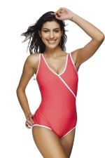 Womens Color Block Sleeveless Classic Monokini Watermelon Red
