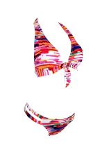 Womens Floral Printed Bikini Top&Cutout Swimsuit Bottom Watermelon Red