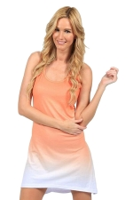Womens Gradient U Neck Sleeveless Tank Dress Orange