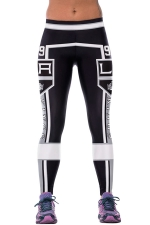 Womens LA KINGS Printed Ankle Length Sports Leggings White