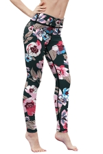 Womens High Waist Digital Printed Yoga Sports Leggings Pink