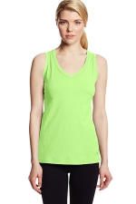 Womens V Neck Sleeveless Solid Color Tank Top Green