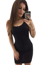 Womens Sexy Backless Slimming Clubwear Dress Black