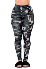 Womens Camouflage Sport Leggings Dark Green