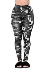 Womens Camouflage Sport Leggings Light Green