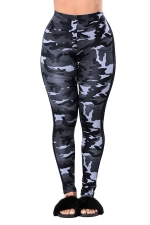 Womens Camouflage Sport Leggings Light Gray