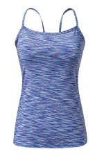 Womens Spaghetti Straps Slimming Cut Out Camisole Top Sapphire Blue