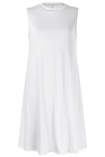 Women Casual Sleeveless Crew Neck Loose Smock Dress White