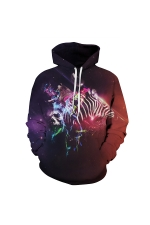 Galaxy Digital Printed Hoodie Coffee