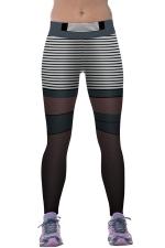 Women Digital Printed Yoga Sports Wear Leggings Gray