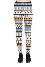 Geometric Printed High Waist Sports Wear Leggings Light Gray
