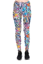 Color Spot Printed High Waist Sports Wear Leggings Multicolor