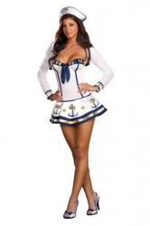 Makin Waves Navy Sailor Girl Halloween Costume