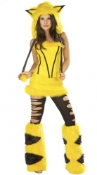 Hooded Pikachu Halloween Costume Yellow