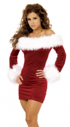 Sexy Off Shoulder Christmas Costume