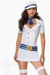 Captivating Captain Sexy Sailor Girl Halloween Costume