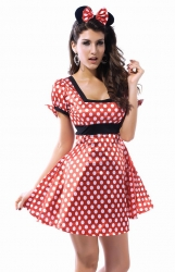 Womens Sexy Minnie Mouse Costume