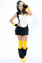 Womens Deluxe Penguin Halloween Costume