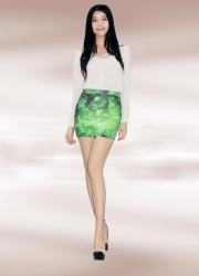 Green Galaxy Pencil Skirt