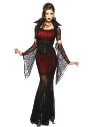 Womens Cobweb Mesh Vampire Halloween Costume