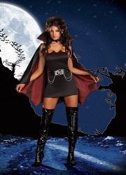 Sexy Black Girls Halloween Vampire Costume