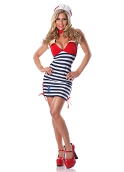 Womens Sassy Sailor Girl Halloween Costume