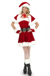 Sexy Wraped Belted Christmas Costume