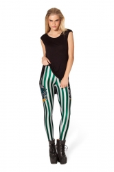 White Slytherin Harry Potter Striped Leggings
