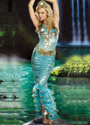 Womens Sea Queen Mermaid Halloween Costume