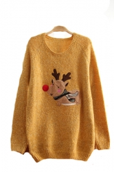 Cute Reindeer Christmas Pullover Sweater