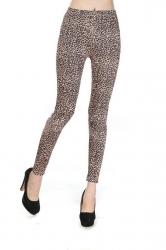 Yellow High Waisted Leopard Print Leggings